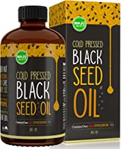 MAJU's Black Seed Oil: 3x% Thymoquinone, Cold Pressed, no Pesticides, 100% Turkish Black Cumin Nigella Sativa Seed Oil (Better Than Organic), non-GMO, 100% Liquid Pure Blackseed Oil, Glass Bottle
