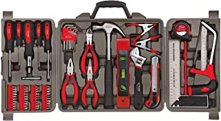 Apollo Tools DT0204 71 Piece Household Tool Kit with Most Reached for Hand Tools in Storage Case, Red