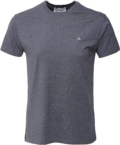 Vivienne Westbois Man Hommes t-Shirt Classique en Coton Biologique gris
