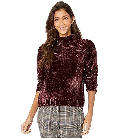 Sanctuary Chenille Mock Neck Sweater (Amethyst) Women