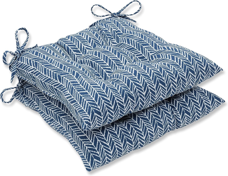 Pillow Perfect Outdoor Indoor New York Mall Herringbone Ranking TOP6 Ink Tufted Seat Cushio