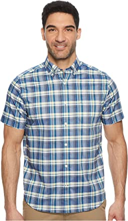 Nautica - Short Sleeve Wear To Work Large Plaid Shirt