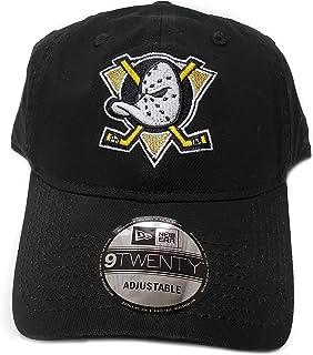 b40d3a0e61182 New Era 100% Authentic Anaheim Mighty Ducks Mask Classic Logo 9TWENTY  Adjustable Hat - Black