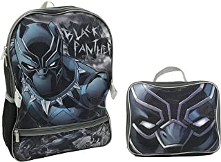 Marvel Boys' Black Panther Backpack with Lunch Kit, One Size