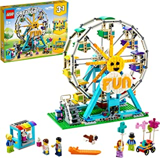 LEGO 31119 Creator 3in1 Ferris Wheel to Swing Boat or Bumper Cars Fairground Building Set, Toy for Kids 9+ Year Old