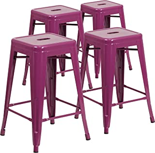 Flash Furniture 4 Pk. 24'' High Backless Purple...