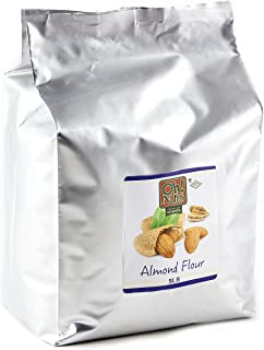 5LB Almond Flour Blanched, Extra Fine Ground Almond Meal - Oh! Nuts (5 LB Bag Blanched Almond Flour)