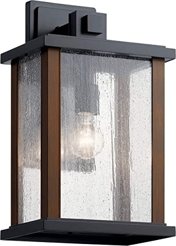 """wholesale Marimount 17"""" 1 Light Outdoor Wall Light with Clear outlet sale Glass in online sale Black outlet sale"""