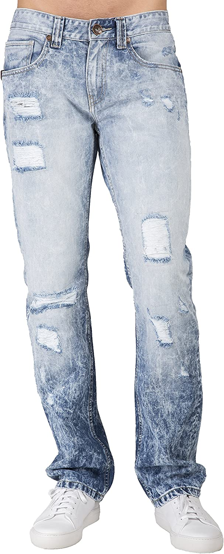 Level Easy-to-use 7 Men's Premium Denim Challenge the lowest price of Japan ☆ Jeans Cloud D Blue Leg Straight Slim