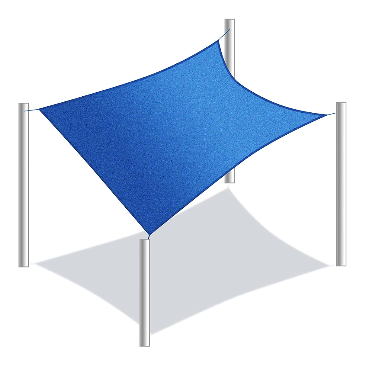 ALEKO SS03REC18X18BL Sun Shade Sail Square Water Resistant Canopy Tent Replacement for Yard Patio Pool 18 x 18 Feet Blue wpl975952