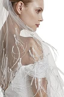ostrich feather veil