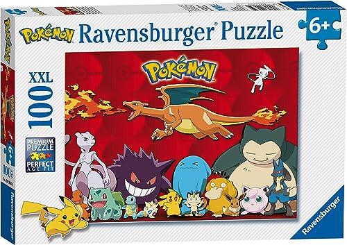 Ravensburger- Puzzle 100 pièces XXL-Mes Pokémon préférés Enfant, 4005556109340