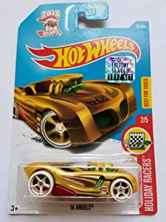 Hot Wheels 2017 Factory Sealed Set Exclusive Holiday Racers - 16 Angels (Gold)