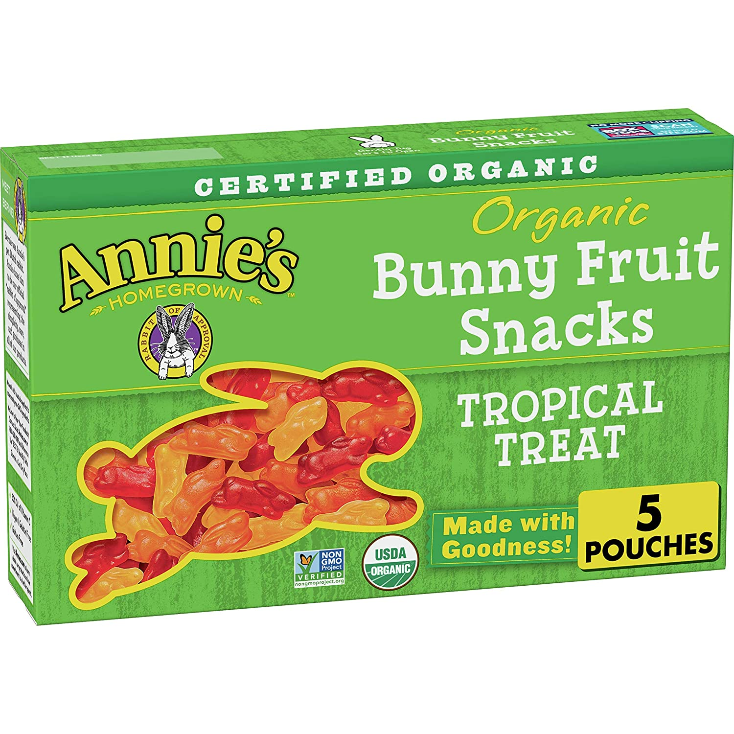 Sales Annie's Organic Tropical Treat Bunny Animer and price revision Fruit oz ct 4 Snacks 5 P