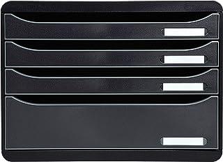 Exacompta - Réf. 315714D - BIG-BOX PLUS HORIZON - Caisson 4 tiroirs, 3 tiroirs pour documents A4+ et 1 tiroir MAXI - Dimen...
