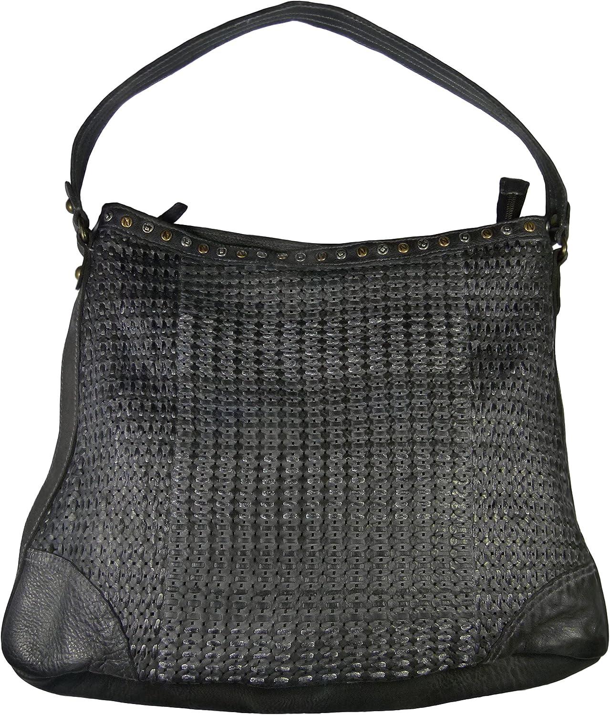 Rubicon Lederhandtasche 270 1815 mit mit mit Flechtdetail, groß in Farbe 150 Anthra B01938WJ8A f05e5a