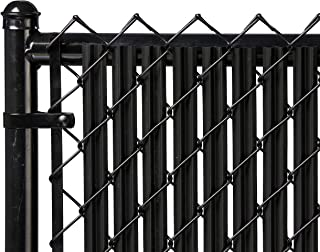 Ridged Slats Slat Depot Single Wall Bottom Locking Privacy Slat for 3', 4', 5', 6', 7' and 8' Chain Link Fence (4ft, Black)