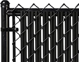 Ridged Slats Slat Depot Single Wall Bottom Locking Privacy Slat for 3', 4', 5', 6', 7' and 8' Chain Link Fence (4ft, Black)