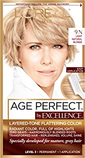 L'Oreal Paris ExcellenceAge Perfect Layered Tone Flattering Color, 9N Light Natural Blonde (Packaging May Vary)
