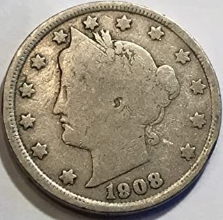 1908 Liberty V Nickel Very Good Details
