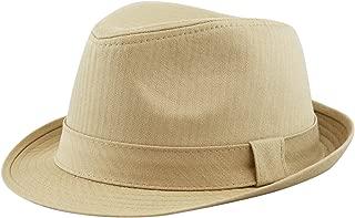Unisex Cotton Twill Herringbone Fedora Hat