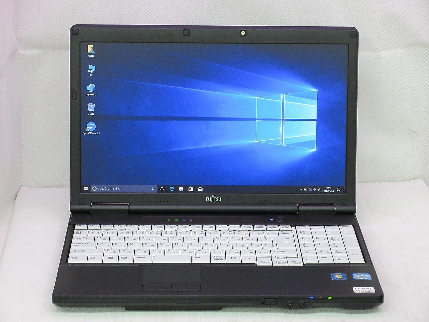 芝生クラフト懇願する【中古】 富士通 LIFEBOOK A572/F ノートパソコン Core i5 3320M 2.6GHz メモリ4GB 320GBHDD DVDスーパーマルチ Windows10 Professional 64bit FMVNA7HE