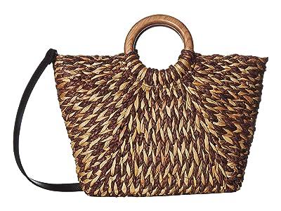 Patricia Nash Woven Luzzara Tote (Black/Natural) Tote Handbags