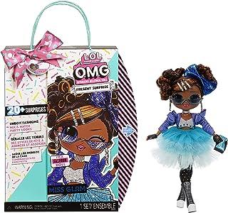 "LOL Surprise OMG Present Surprise 10"" Fashion Doll Miss Glam, 20 surprises, 5 different looks"