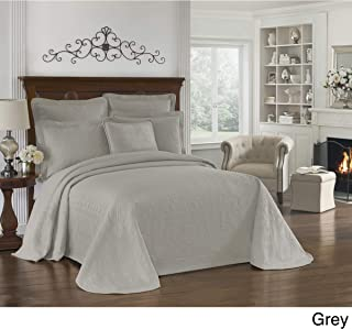 Ellery Homestyles LLC Historic Charleston King Charles Matelasse Bedspread Grey Queen