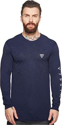 Alltime Long Sleeve Heathered Surf Tee UPF 50
