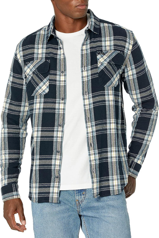 RVCA Men's Standard Fit Long Sleeve Button Up Flannel Shirt