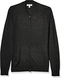 Marchio Amazon - Goodthreads Merino Wool Bomber Sweater Uomo