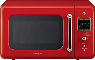 Daewoo KOR-7LRER Retro Countertop Microwave Oven 0.7 Cu. Ft., 700W | Pure Red