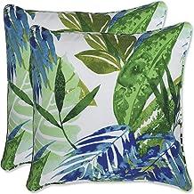 Pillow Perfect Outdoor   Indoor Soleil Blue/Green 16.5 Inch Throw Pillow, 16.5 X 16.5 X 5