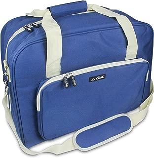 La Canilla ® - Bolsa para Máquina de Coser Funda Máquina de Coser Maleta de Transporte para Máquinas de Coser Singer, Alfa y otros Accesorios Máquina Coser (Accesorios No Incluidos) (Azul)
