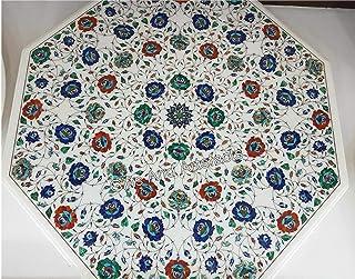 Gifts And Artefacts - Mesa de mesa de mesa de mesa de mesa de mesa de mesa de mármol, diseño elegante con varias piedras p...