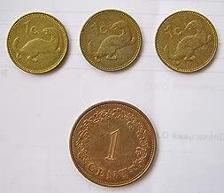 MT 1973 Set of Maltese pre-euro coins, cents, lira (Malta) Good