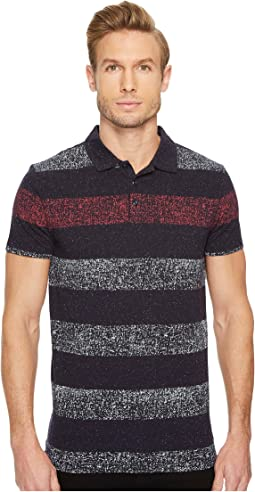 BOSS Orange - Heather Block Stripe Polo Shirt