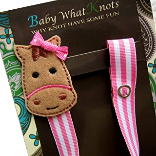 Horse Embroidered Pacifier Clip for Baby