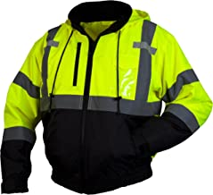 Pyramex RJ31 Series Lumen X Class 3 Fleece Bomber Safety Jacket, Lime, X Large