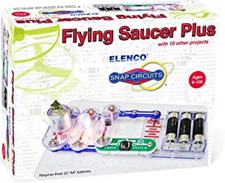Snap Circuits Electronics Flying Saucer Plus Mini Kit   Build UFO Launcher with Snap-Together Electronic Components   10 P...