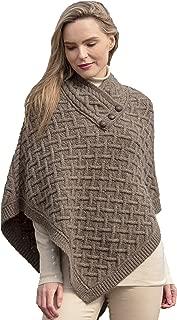 Aran Crafts Nua Super Soft Merino Poncho (100% Super Soft Merino Wool)