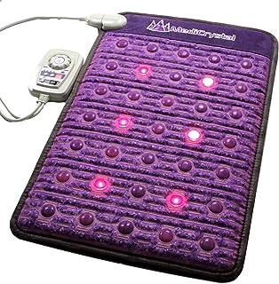 comprar comparacion MediCrystal Infrarrojo lejano amatista Mini Mat 80 x 50 cm + 29 Agates + Photon luces rojas + 4, 8, 10, 14 Hz PEMF