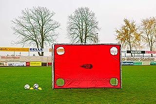 POWERSHOT fotbollsspelare PRO 3,7 x 2 m gjord av uPVC väderbeständig, inkl. klicksystem och tillbehör, säker att förlora