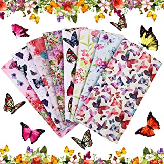 Watercolor Floral Butterfly Quilting Cotton Fabric Shipped Next Business Day or Earlier 5 Fat Quarter Bundle