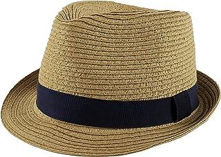 PEAK 2 PEAK Unisex Kids Straw Trilby Fedora Cap Felt Fedora Hat Short Brim Sunhat