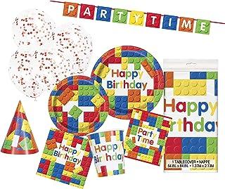 Unique Party 63799 - Building Blocks Party Supplies Kit for 8