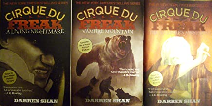 Cirque Du Freak (Set of 3 Books) A Living Nightmare,The Vampire Assistant, Vampire Mountain