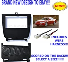 Lower Single or Double Din Dash Kit Compatible with 95-98 Nissan 240SX S14 Multiple 52mm Gauge Options