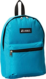 Everest Basic Backpack, Turquoise, One Size